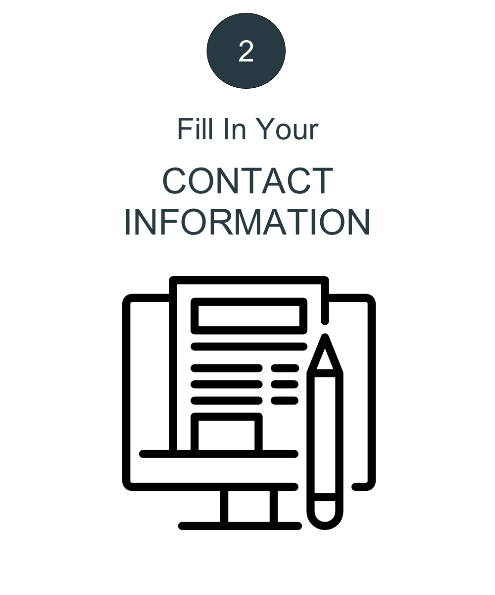 Fill in Contact Information
