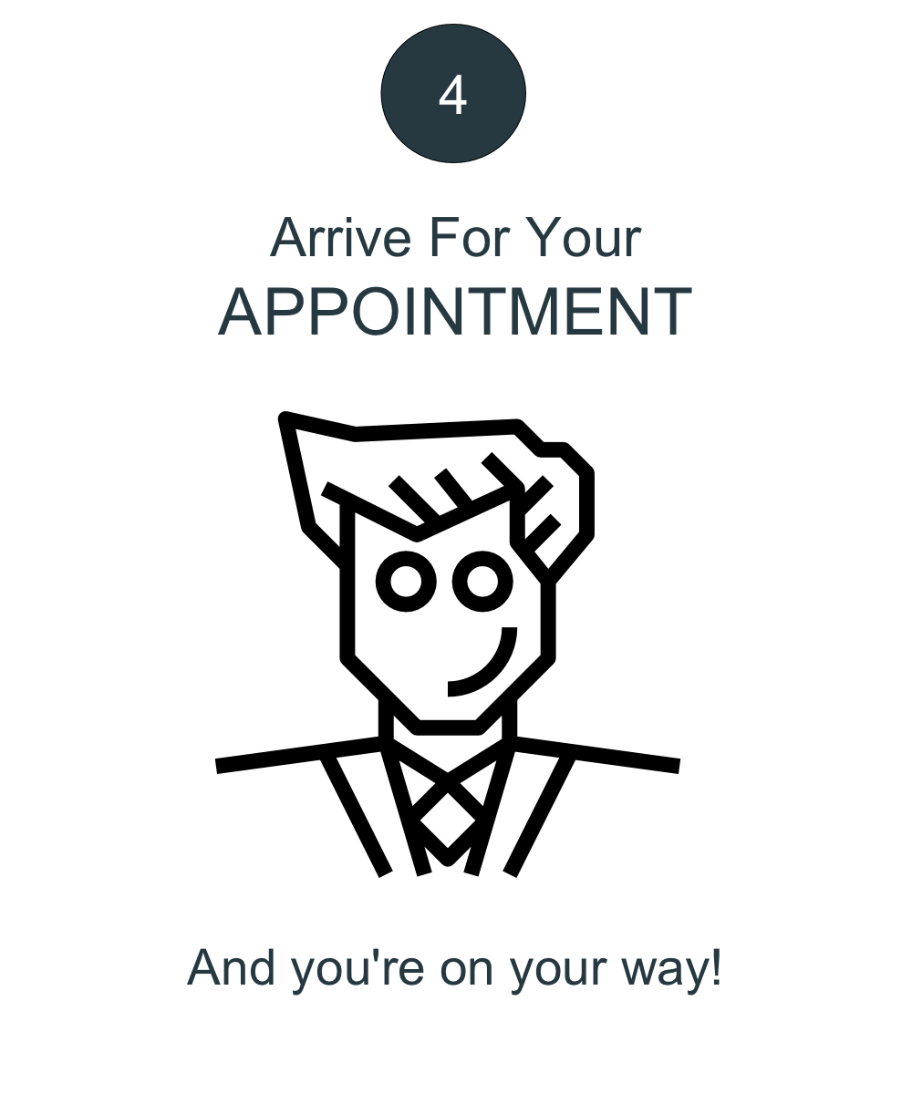 Arrive for Your Appointment