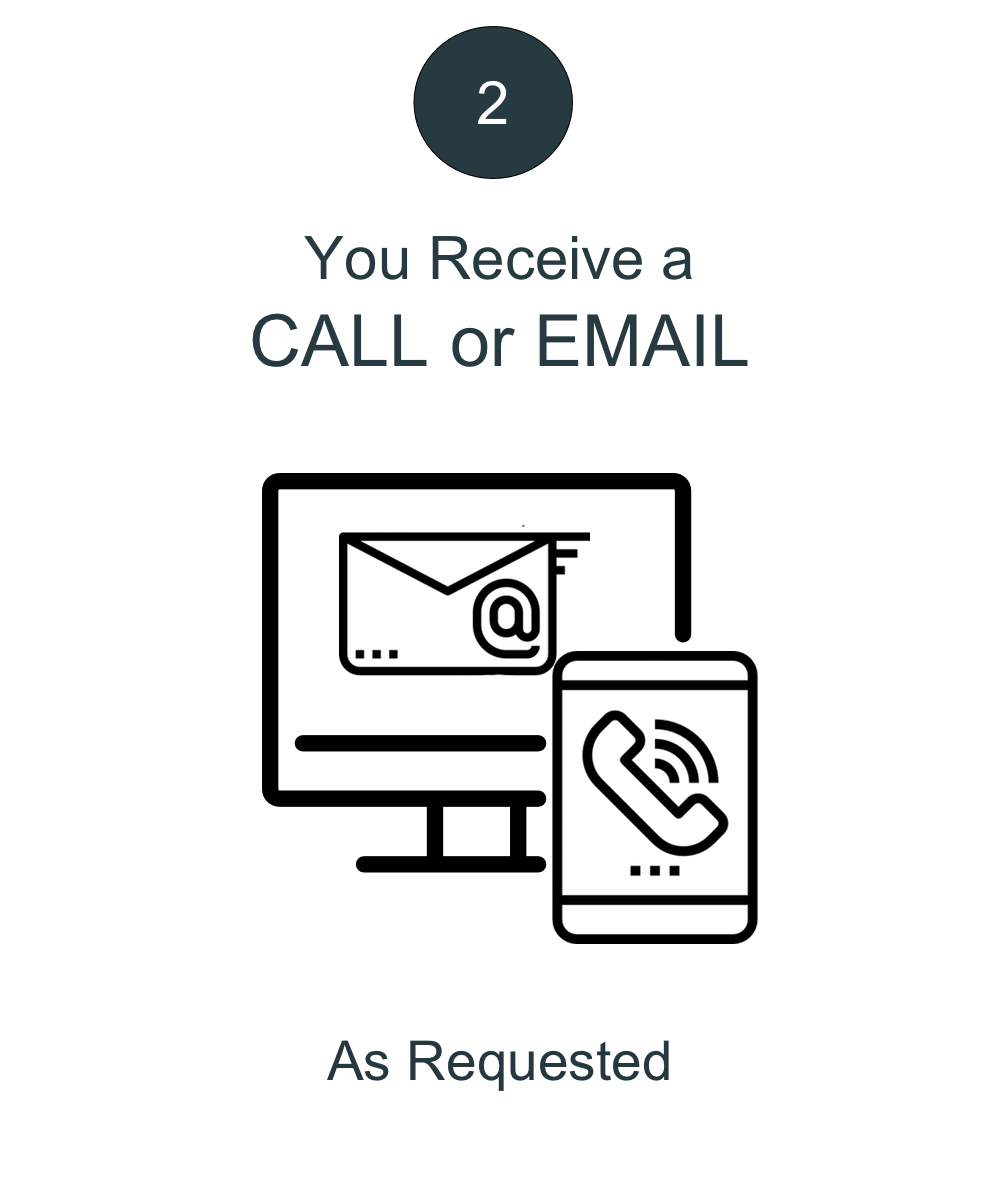 Wait for Call or Email